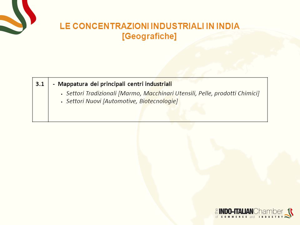 LE CONCENTRAZIONI INDUSTRIALI IN INDIA [Geografiche]